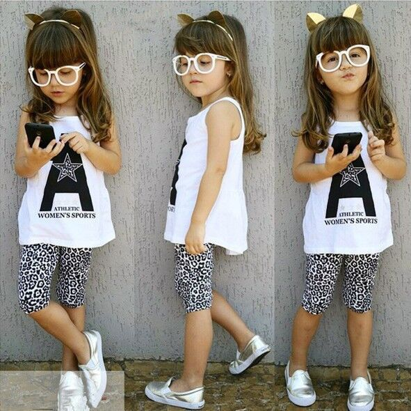 1-7 years Spring/Summer girl sleeveless white top and stretchable tights islamabad online shop