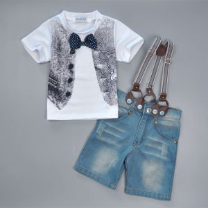 2-7 years -Suspenders braces trouser and waist T-shirt Spring/Summer Baby islamabad online shop