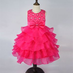 2-7 years - Party Outfit Pink Ruffles Frock_Spring/Summer islamabad online shop