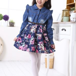 18M-5 years -Spring/Summer cowboy sleeves attached Blue skirt party wear islamabad online shop
