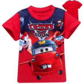 2-7 years-kids (baby+Toddler) boys clothing stylish Red Mcqueen Cars t-shirt Islamabad online shop