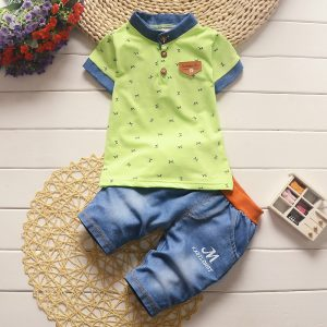 9M-4 years - Boys Green T-shirt and Jeans Spring/Summer islamabad online shop